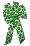 "10"" Large Green Four-Leaf Clover Bow"