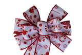 "Small 5-6"" Hand Made Christmas Candy Bow"