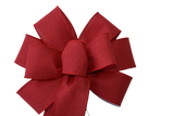 "10""  Wired Red Linen Wreath Bow"