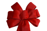 "10"" Wired Red Fleece Wreath Bow"
