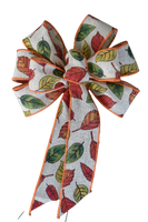"Small 5-6"" Hand Made Autumn Leaves Bow"