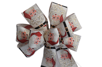 "10"" Large Santa Claus Wired Christmas Bow"