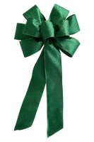 "10"" Large Green Emerald Wired Christmas Bow"