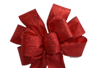 "10""  Wired Red Metallic Wreath Bow"