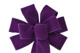 "Large 10"" Wired Purple Velvet Bow"