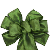 "Small 5-6"" Wired Moss Green Bow"