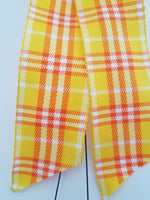"Small 5-6"" Wired Yellow Plaid Bow"