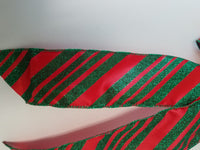 "Large 9-10"" Hand Made Red and Green Candy Cane Stripe Christmas Bows - Indoor/Outdoor - Wreath Ribbons Holiday Deep Red"