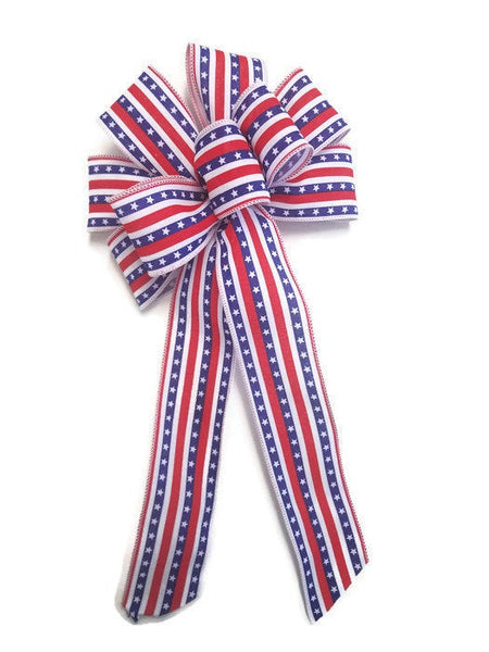 "Large 9-10"" Handmade American Star Bow"