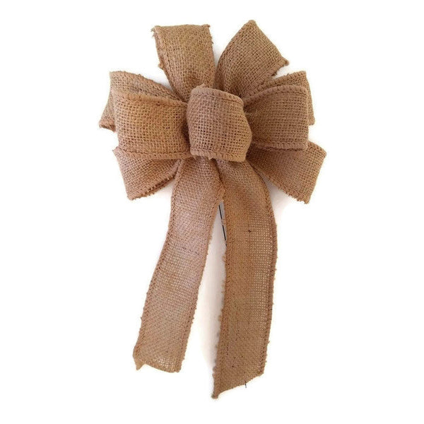 "Small Wired 5-6"" Hand Made Burlap Bows"