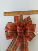 "Small Wired 5-6""  Fall Plaid Bows"