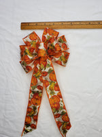 "Small 5-6"" Orange Pumpkin Patch Bow"