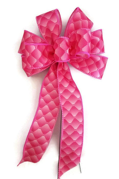 "Small 5-6"" Hand Made Pink Diamond Bows"
