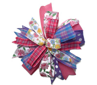 "15"" Wired Multi-Ribbon Easter and Spring Wreath Bow"
