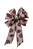 "Small 5-6"" Wired Red Lady Bug Bow"