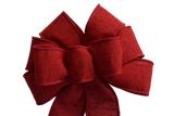 "Small 5-6"" Hand Made Burgundy Christmas Bow"