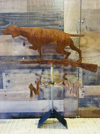 Hunting Dog and Gun - Handcrafted Rusty Weathervane - Country Home