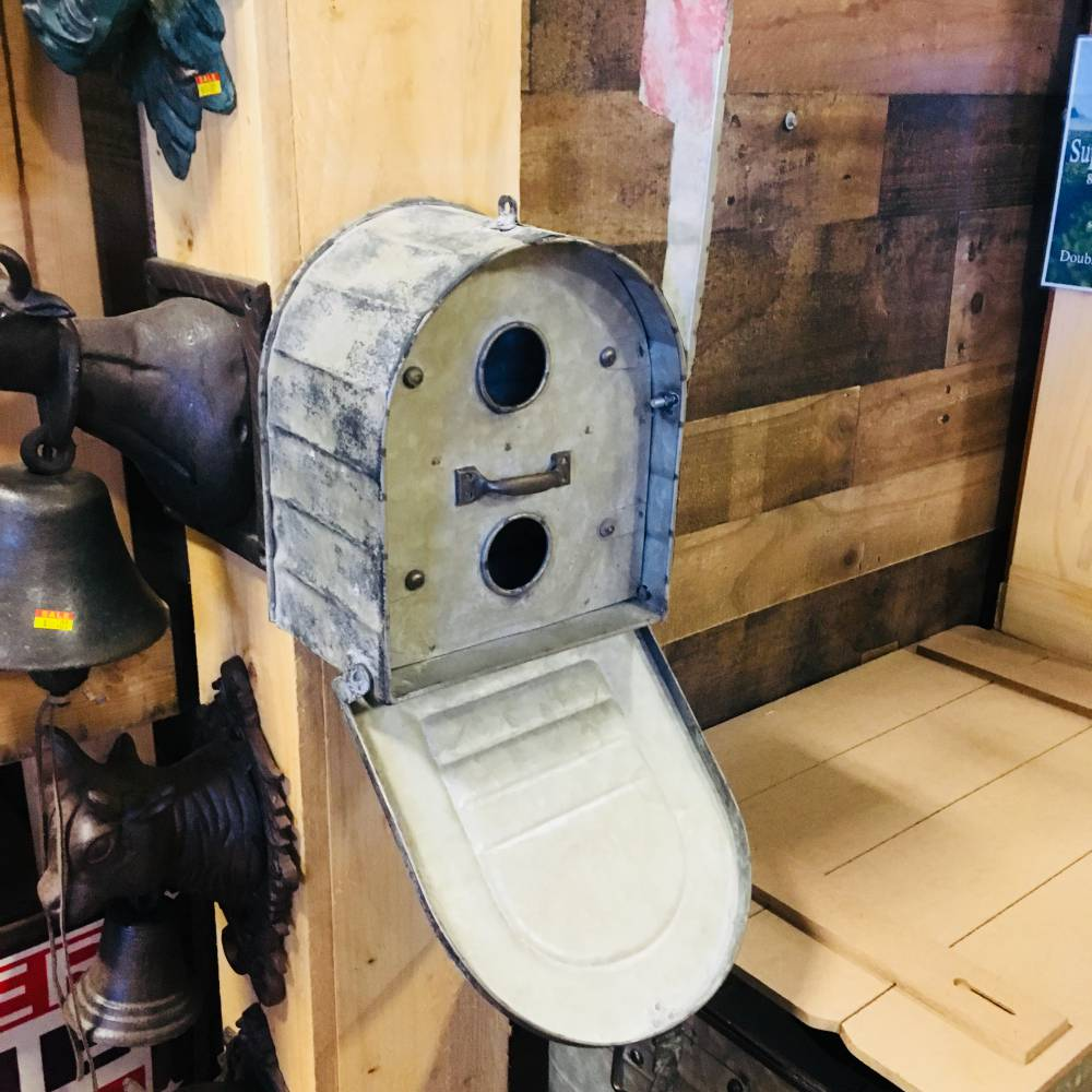 Large Birdhouse Galvanized Metal Mail Box - Rustic Home and Garden