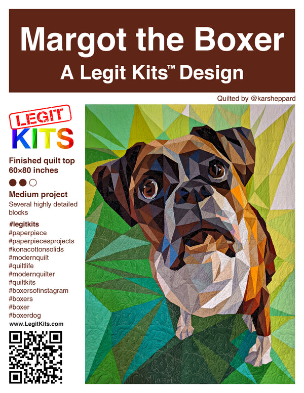Margot the Boxer Quilt Top Kit
