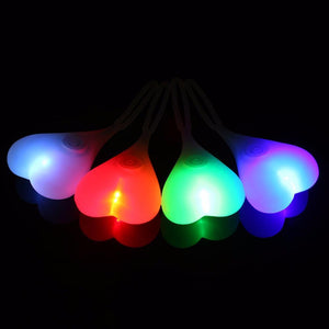 Image of various color glowing bike balls
