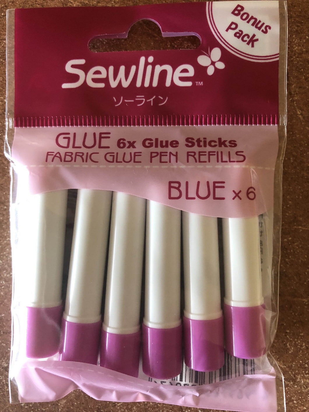 Fabric Glue Pen Refills - Blue - Pack of 6