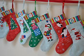 Jolly Santa Advent Stocking Panel