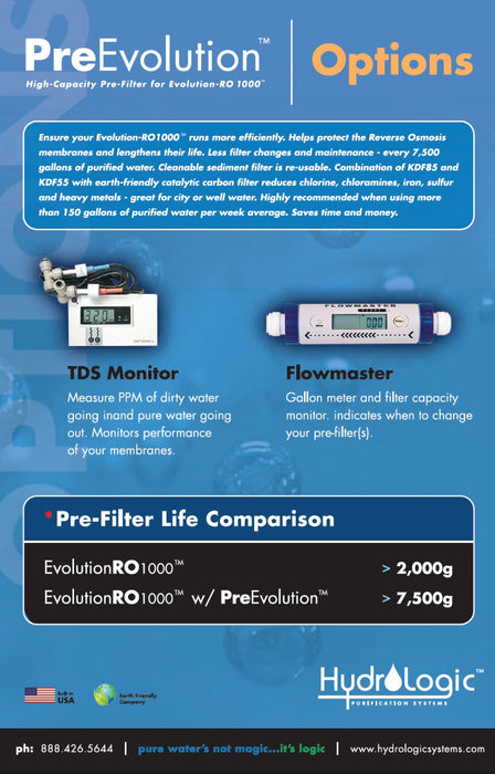 Hydrologic PreEvolution Pre-Filter for Evolution - High Capacity guide