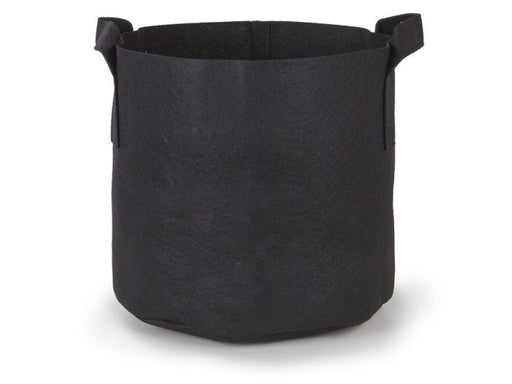 247 Garden - 3 Gallon Aeration Fabric Pots - Black with Handles - 5-Pack