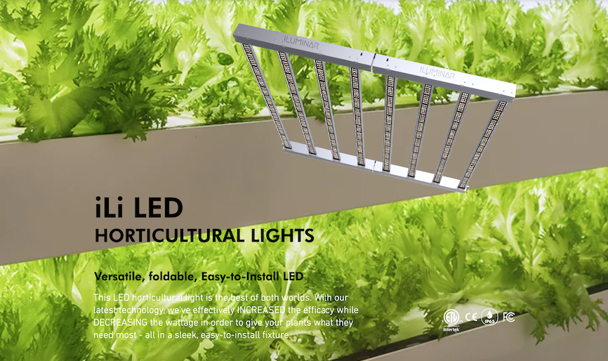 ILUMINAR LED - iLi6 2.7 630W 120-277V 6-Rail-Foldable-Box-Style LED (Complete Spectrum Veg & Flower)