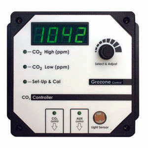 Grozone CO2R- Dual Output 0-5000 PPM CO2 Controller