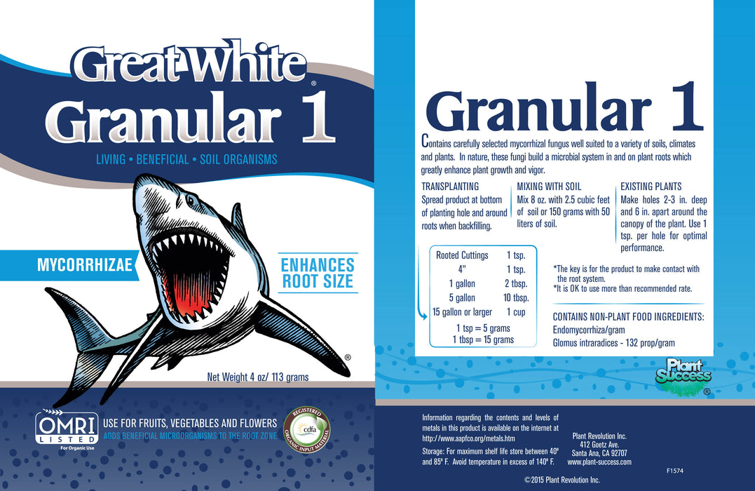 Great White Granular 1 Label