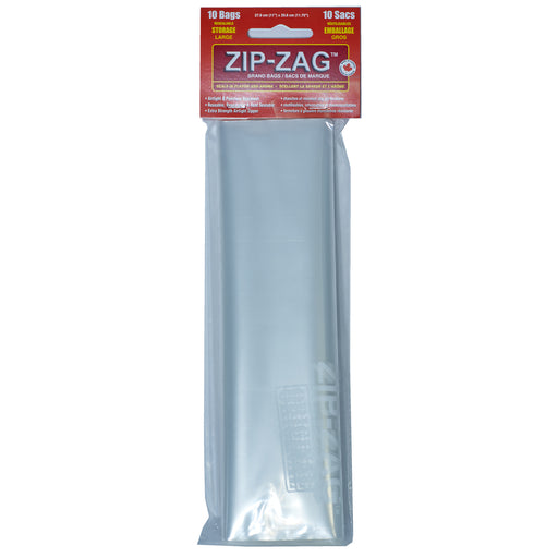 Zip Zag Bag Large Smell Proof Reusable Bag - 1/2 lbs (10 pack)