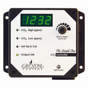 Grozone SCO2- Single Output 0-5000 PPM CO2 Controller