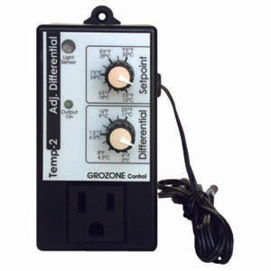 Grozone TP2- Temp-2 Adjustable Differential Tempstat