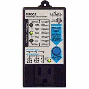 Grozone USCO2- 0-2000 PPM Single Zone Ultra Simple CO2 Controller