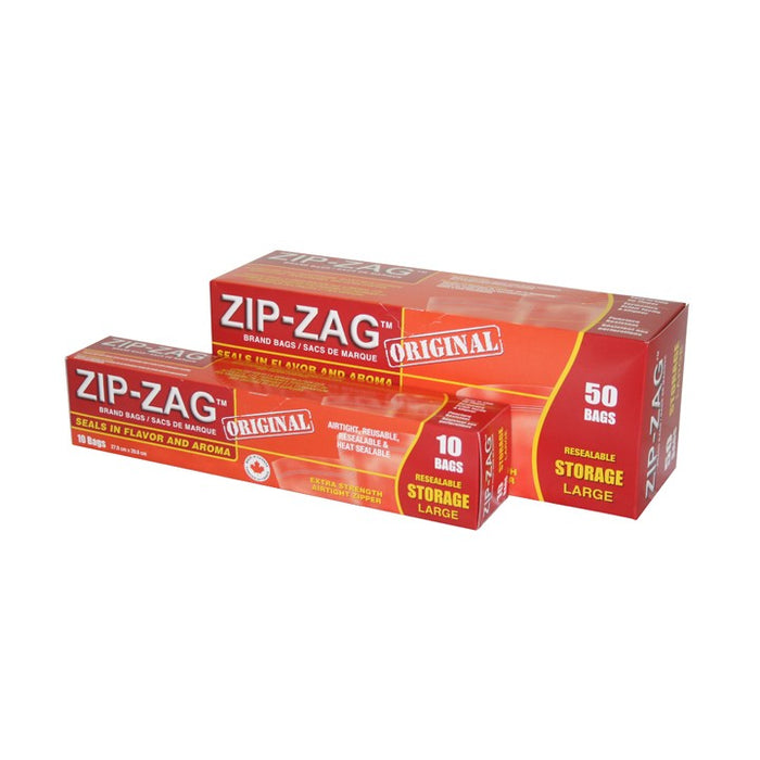 Zip Zag Bag Large Smell Proof Reusable Bag - 1/2 lbs (50 pack)