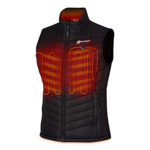 Load image into Gallery viewer, Women's Quad-Zone Insulated Heated Puffer Vest - Roam 2.0 - Black