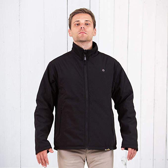 Load image into Gallery viewer, Delspring Battery Heated Soft Shell Jacket 5V (Black) - FINAL SALE