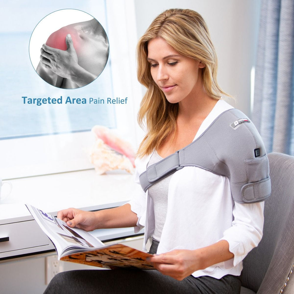 Load image into Gallery viewer, Infrared Heat Therapy Pain Relief Shoulder Wrap
