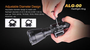 Fenix ALG-00 Flashlight Ring Quick Detach Light Mount