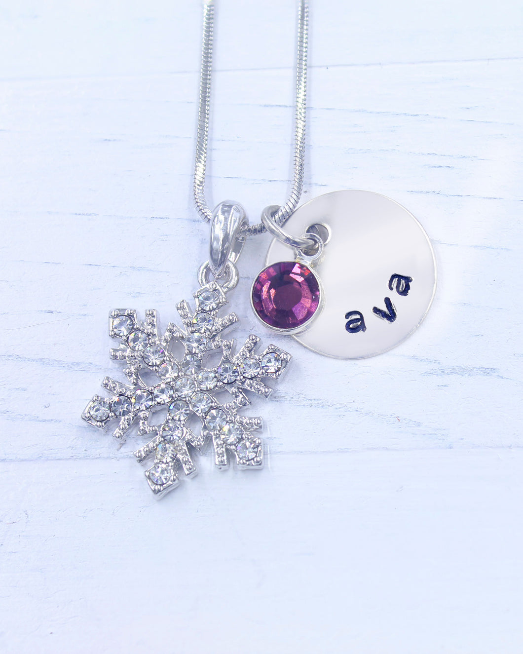 Snowflake Necklace | Charm Jewelry | Personalized  Necklace | Snowflake Charm | Christmas gifts for mom | Christmas gifts for her