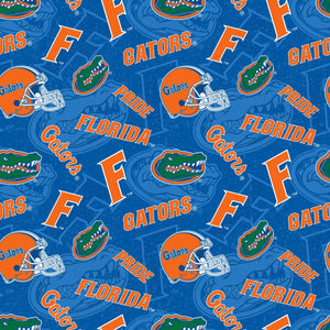 University of Florida fabric by the yard | 100% Cotton | Sykel Enterprises NCAA fabric #1178