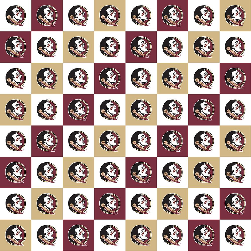 Florida State University fabric by the yard | 100% Cotton | Sykel Enterprises NCAA fabric | Pattern #1158