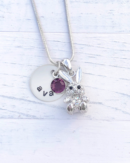 Bunny Necklace | Bunny Gift | Personalized Necklace | Christmas gifts for mom | Christmas gifts for her | Christmas gifts for women