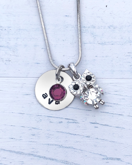 Owl Gift | Owl Necklace | Personalized Necklace | Christmas gifts for mom | Christmas gifts for her | Christmas gifts for women