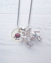 Load image into Gallery viewer, Unicorn Charm Jewelry | Personalized Unicorn Charm Necklace | Unicorn Charm  | Crystal Unicorn Charm | Unicorn Jewelry | Jewelry for Girls