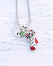 Load image into Gallery viewer, Christmas stocking Necklace | Christmas stocking charm necklace | Christmas gifts for mom | Christmas gifts for her
