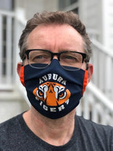 Load image into Gallery viewer, Auburn Face Mask | Adjustable Ear Loops | Made in the USA | Quick Ship | Machine Washable | Unisex | Adult and Child Sizes