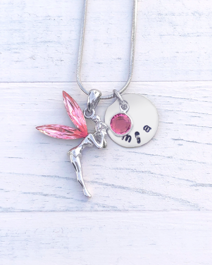 Tinkerbell Gift | Tinkerbell Necklace | Personalized Necklace | Christmas gifts for mom | Christmas gifts for her  Christmas gifts for women