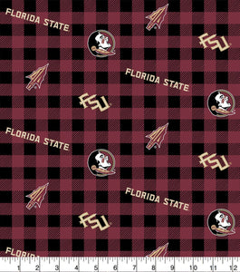 FSU Seminoles Face Mask with removeable pocket filters and nose wire| Adjustable Ear Loops | USA made | Quick Ship | Machine Washable